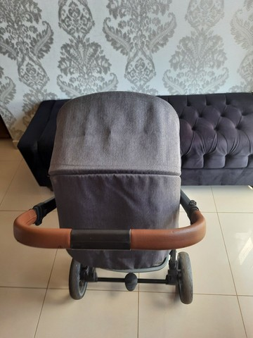Carrinho bebe 3x1 luxo infanti epic lite couro travel system base isofix - Foto 3