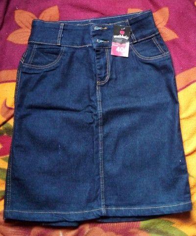 3Saia jeans secretaria moda evangélica - Foto 5