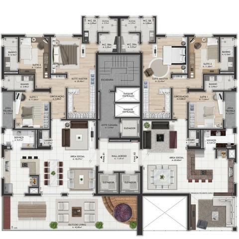 Oferta Imóveis Union! Apartamento com 167 m² no bairro Universitário, próximo ao centro! - Foto 20