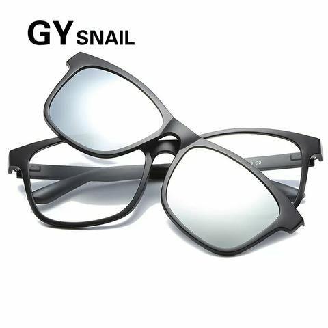 Armacao Oculos Grau Unissex Clipon Oculos De Sol Acetato ... 856d972a32