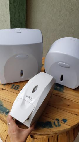 Dispenser Para Sabonete + Toalheiro + Porta papel higiênico