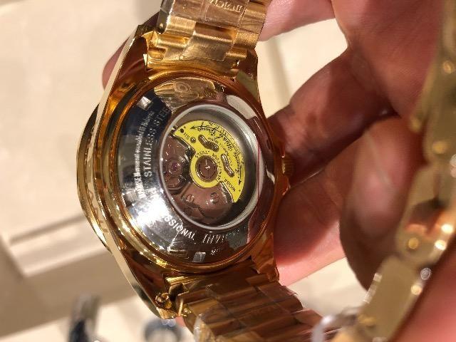 9924f49560c Relógio Invicta Automátic Dourado Mod.10642 47mm Novo C nota ...