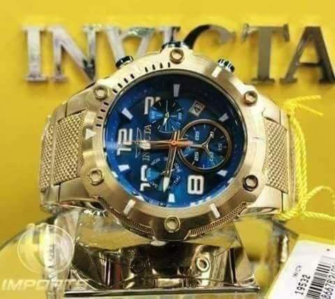 af3aa823e7c Apenas 950 reais Relógio Invicta Suíço de Luxo Legítimo e Todo Banhado à  Ouro 18K