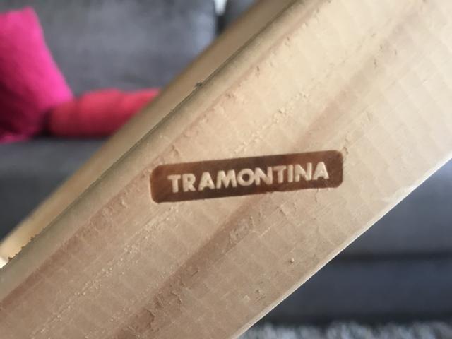 Tábua de passar roupa dobrável madeira pinus Tramontina - Foto 2