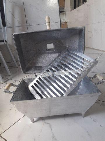 Vende-se churrasqueira abafo de alumínio fundido  - Foto 6
