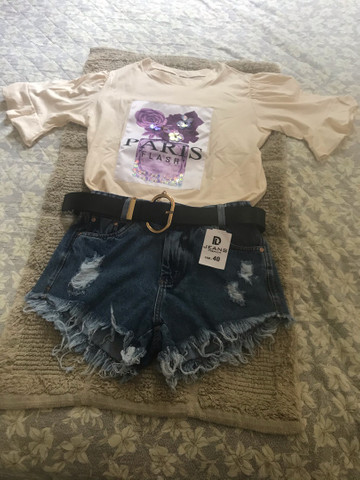 Short jeans baby look