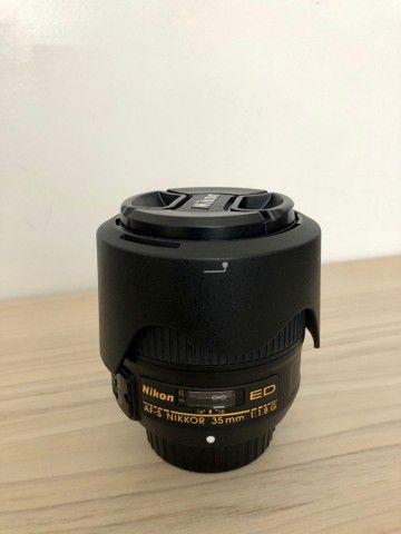 Lente Nikon 35 mm 1. 8 ( estado de novo ) - Foto 3