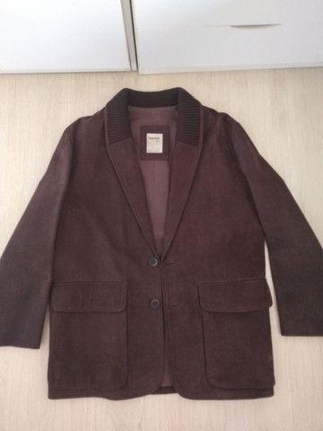 Casaco de couro tamanho médio marca Timberland - Foto 2