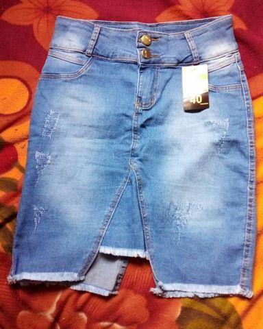 3Saia jeans secretaria moda evangélica - Foto 6