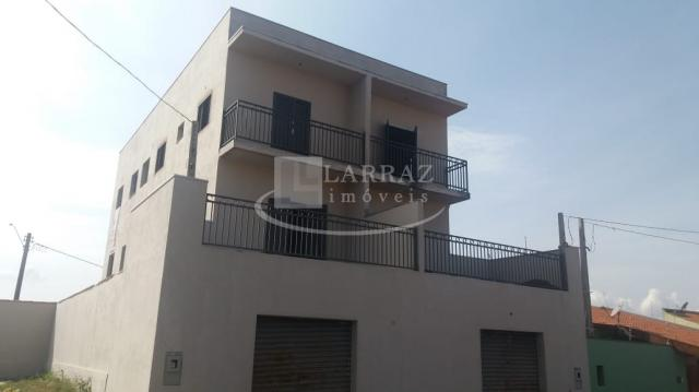 Apartamento com quintal privativo novo para venda em brodowski na saída para serrana, 2 do