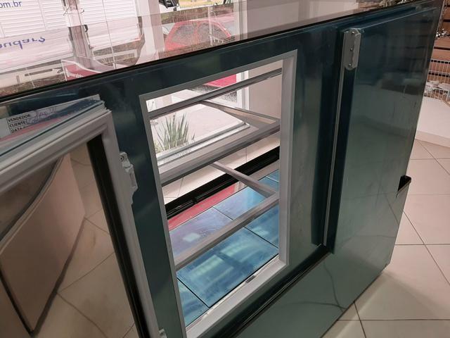 Vitrine seca de 1,50 com luz de led em todas as prateleiras 47- * jean - Foto 4
