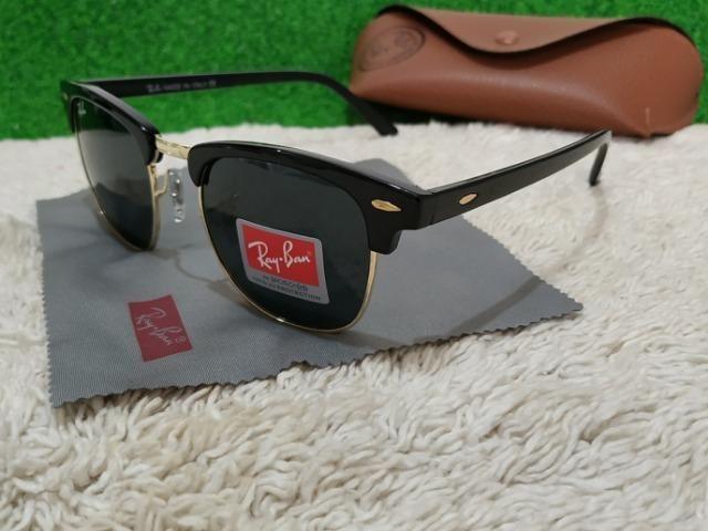 6fd6cc564bd7d Óculos Ray Ban preto ClubMaster - Bijouterias, relógios e acessórios ...