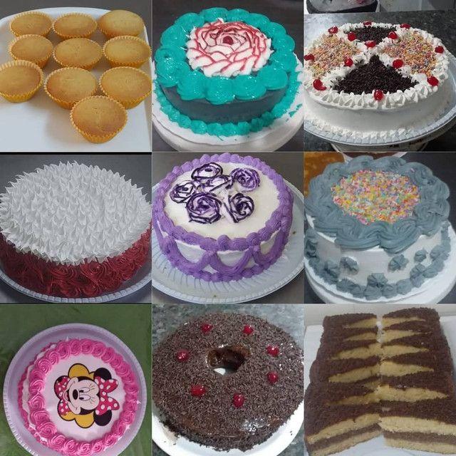 Bolos, tortas com chantilly,cupcake, salgados doces - Foto 2