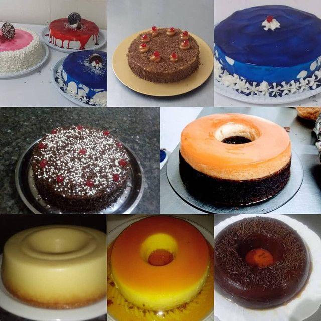 Bolos, tortas com chantilly,cupcake, salgados doces