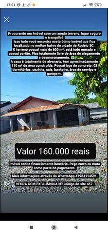 Vendo casa alvenaria rodeio bairro Gávea - Foto 3