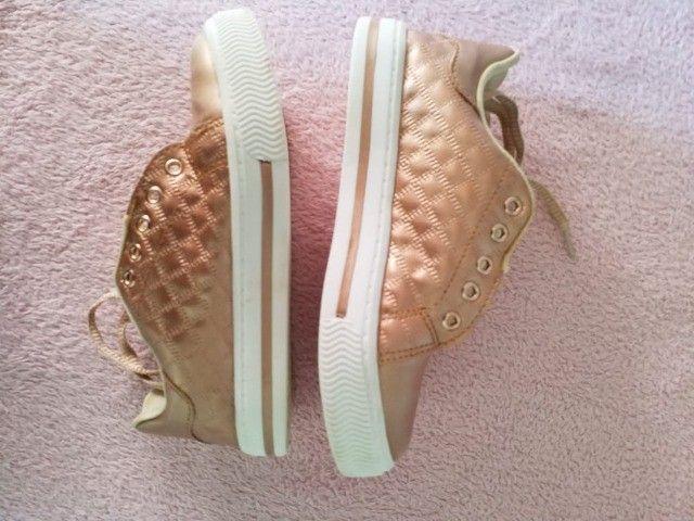 Conjuntos de TRÊS (3 pares) de tênis infantil menina (1 NOVO) marca BIBI - Foto 5