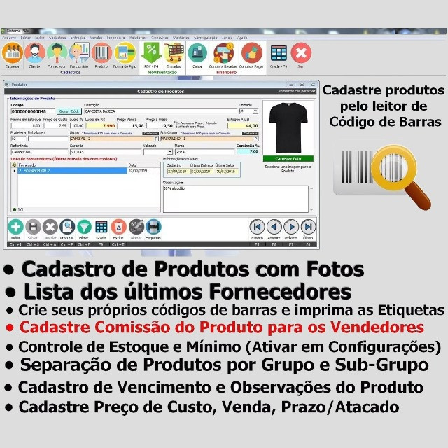Frente de Caixa, Software PDV, Controle Estoque, Financeiro, Despesas - Manaus - Foto 6