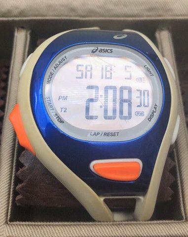 Relógio Asics Branco com Azul Masculino