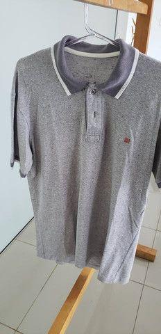 Camiseta polo six one cinza - Foto 3