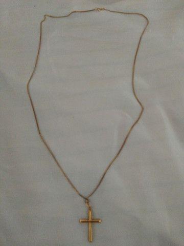 Cordão com pingente ouro 18