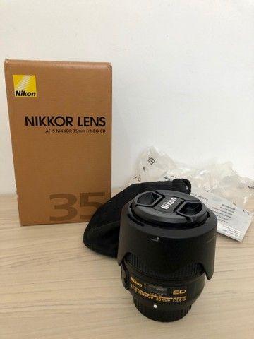 Lente Nikon 35 mm 1. 8 ( estado de novo )