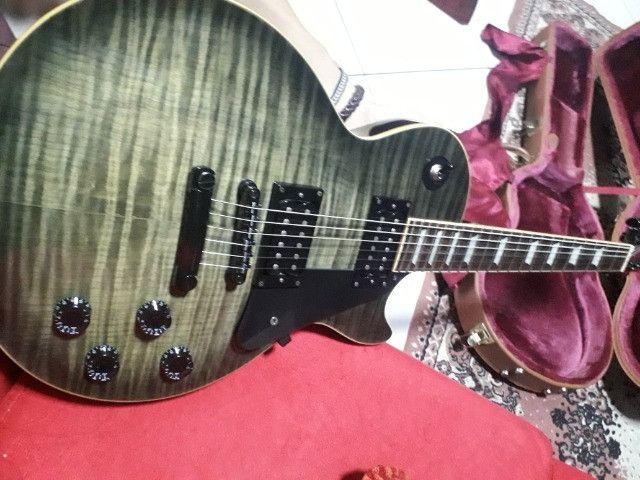 Guitarra Les Paul Epiphone TransBlack. Negocio à vista - Foto 5