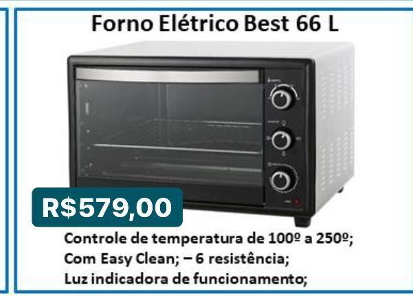 Forno elétrico besta 66L