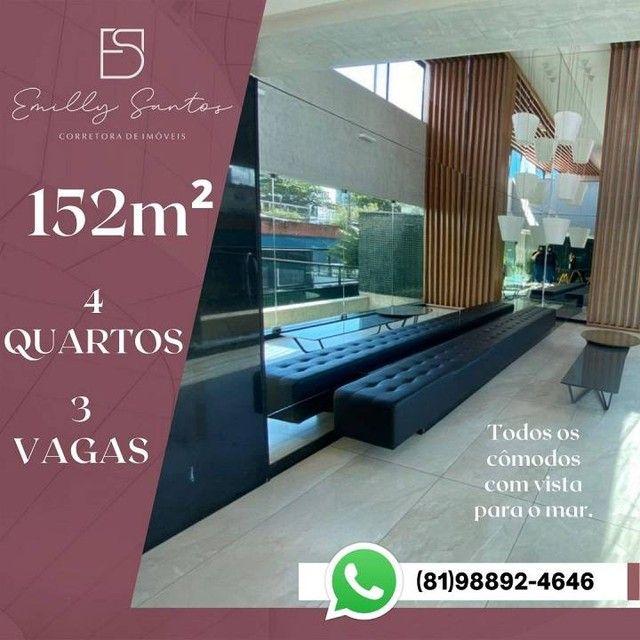 Apartamento para venda com 152 metros quadrados com 4 quartos em Pina - Recife - PE - Foto 8