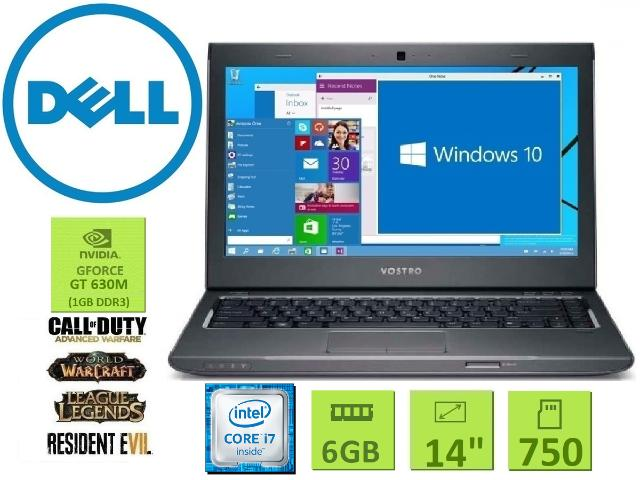 Notebook Dell| Core i7 | 6 Gb| Tela 14| SSHD 750| Dvdrw