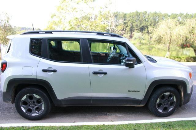 Jeep Renegade 1.8-16V Flex Sport Prata-Automático Com Teto Solar