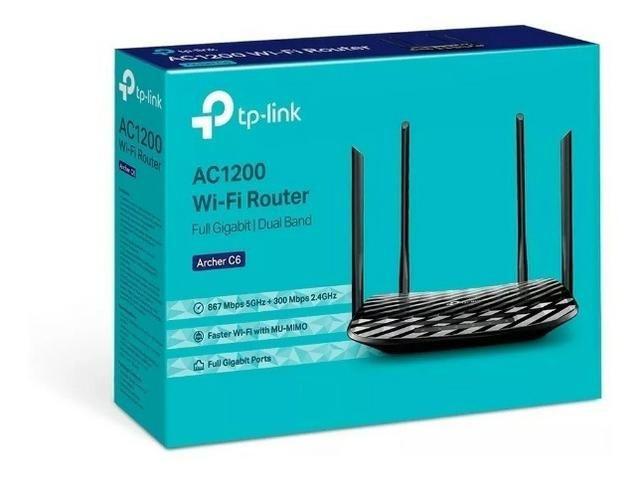 Roteador Wireless Dual Band Archer C6 AC1200 300MB/S + 867MB/S TP-LINK -  Loja Dado Digital