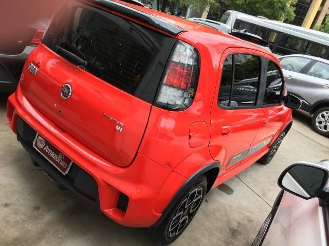 Fiat Uno 1.4 Evo Sporting 8v Flex 4 portas Automatizado vermelho 2015 - Foto 5