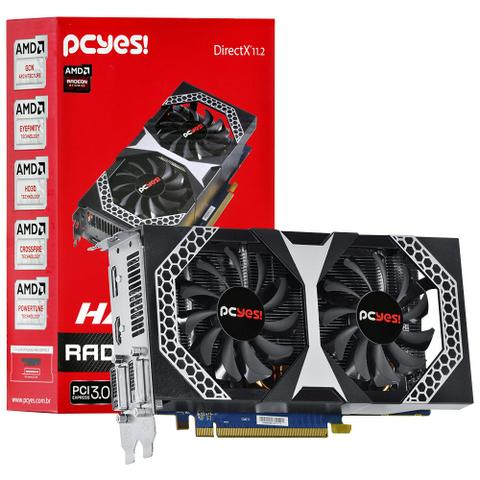 Placa de Vídeo Pcyes AMD Radeon R7 260X Hammer 2GB GDDR5 PCI-Express 3 0