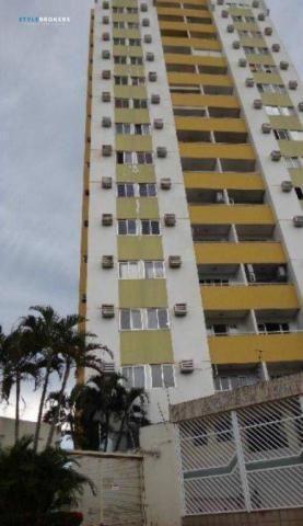 Apartamento com 3 dormitórios à venda, no Edifício Ômega Tower, 80 m² por R$ 290.000 - Goi