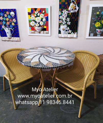 Mesa mosaico, móveis varanda, móveis sacada