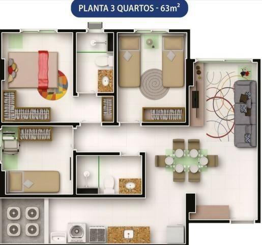 Apto com 3 qts 63m² em um Condomínio Clube Próximo a Antônio Falcão (81)9.8841.9885 - Foto 7
