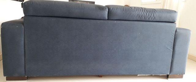 Sofá 2 lugares com chaises retráteis - Foto 4