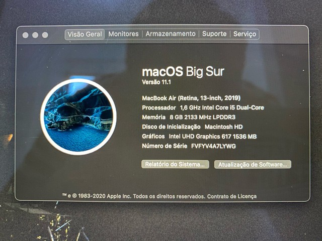 MacBook Air 2019 SSD 128gb RAM 8gb - Foto 3