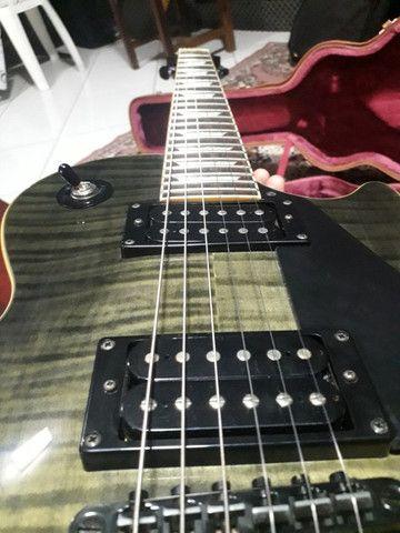 Guitarra Les Paul Epiphone TransBlack. Negocio à vista - Foto 2