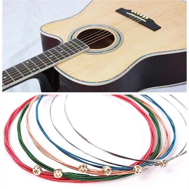 Jogo de Cordas Coloridas de Nylon para Violão - Foto 3