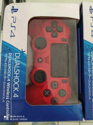 Controle PS4   Sony vermelho e/ou branco original  sem fio - Foto 3
