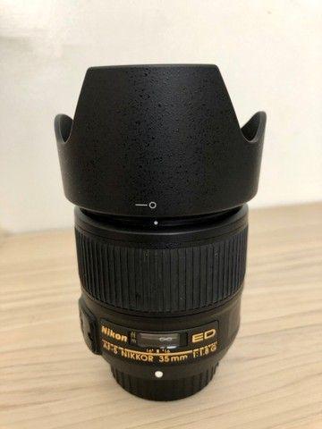 Lente Nikon 35 mm 1. 8 ( estado de novo ) - Foto 2