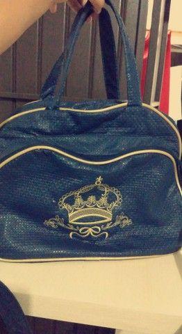 Bolsa azul de bebê  - Foto 4