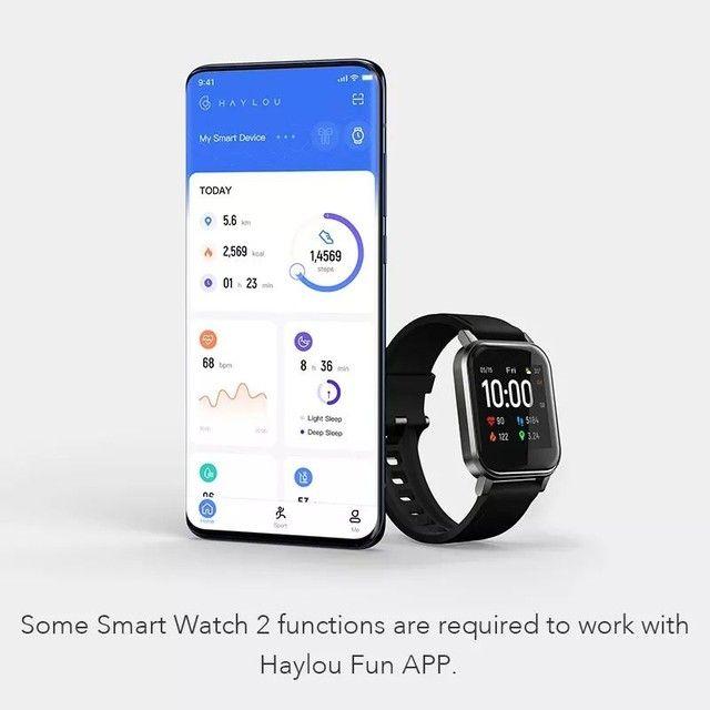 "Smartwatch Haylou LS02, Bluetooth 5.0, IP68, Tela 1.4"" LCD - Lançamento 2020? (Preto)<br><br> - Foto 6"