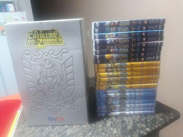 Vendo BOX Cavaleiro dos Zodíaco 21 DVDs originais.