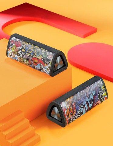 Caixa De Som Bluetooth 5.0 Mifa A10+ Black-graffiti 20w Ipx7
