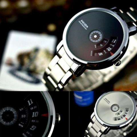 Relógio Wilon ( Visor Prata e Preto)