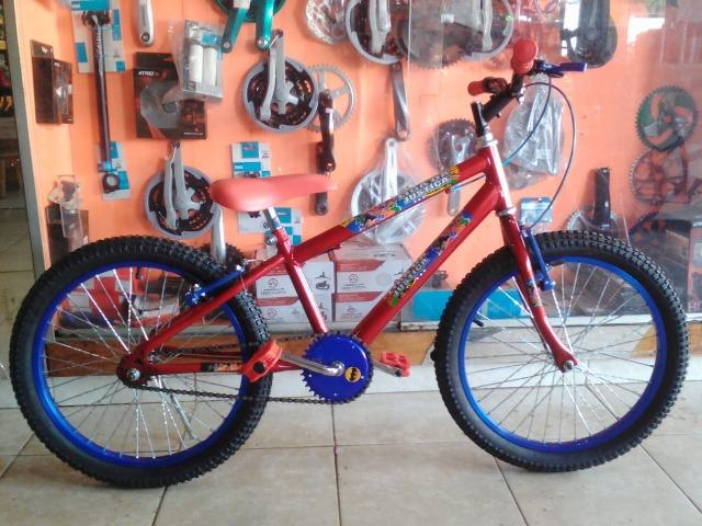 Bicicleta aro 20 Masculina c/ Adesivo da Liga da Justiça