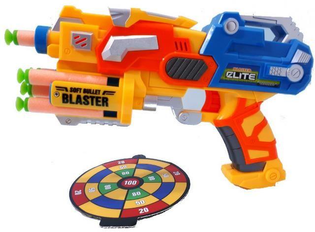 Lançador Nerf com 06 Dardos Blaster Elite Com Alvo