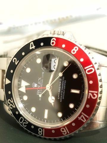 820ef299838 Rolex Relógio Oyster Gmt Master 2 Coke 1994